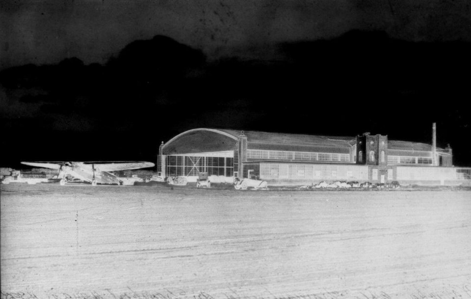 Photo -  The Transcontinental Air Transport hanger in Waynoka. Photo provided