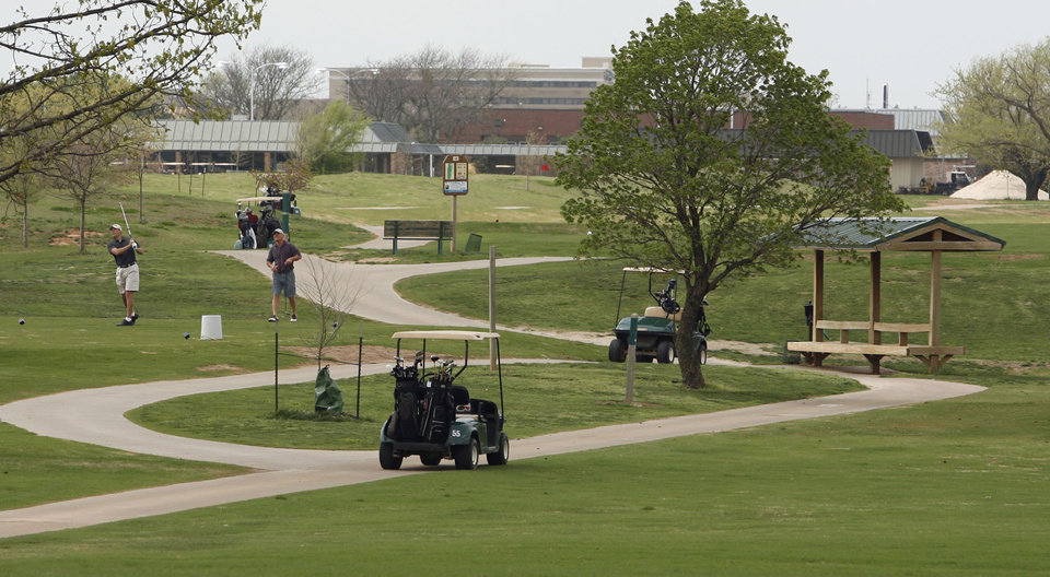Golfers play Westwood Golf Course in Norman, Oklahoma on Wednesday, March 28, 2007.   Photo by Steve Sisney / The Oklahoman