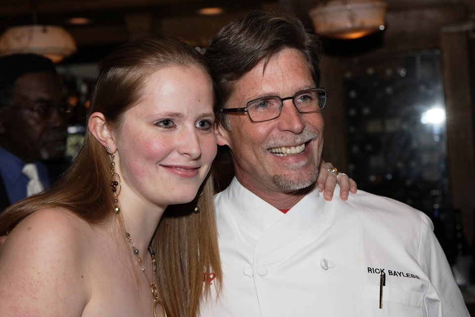 Levita's granddaughter, Lanie, and her Rick Bayless at the party in 2006.