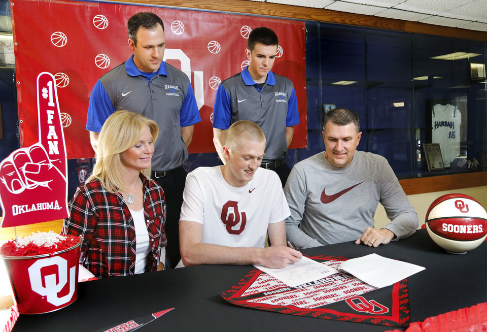 of intent to play at the University of Oklahoma Wednesday morning ...
