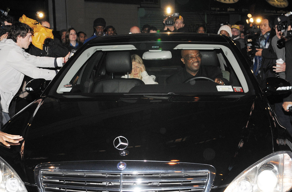 Photo - In this April 8, 2008 file photo, actress Gwyneth Paltrow arrives for a party at Jay-Z's apartment building, in New York. The rap mogul put a ring on it in 2008 after six years of unconfirmed dating. The paparazzi snapped arriving guests, including  Paltrow and Chris Martin, who recently