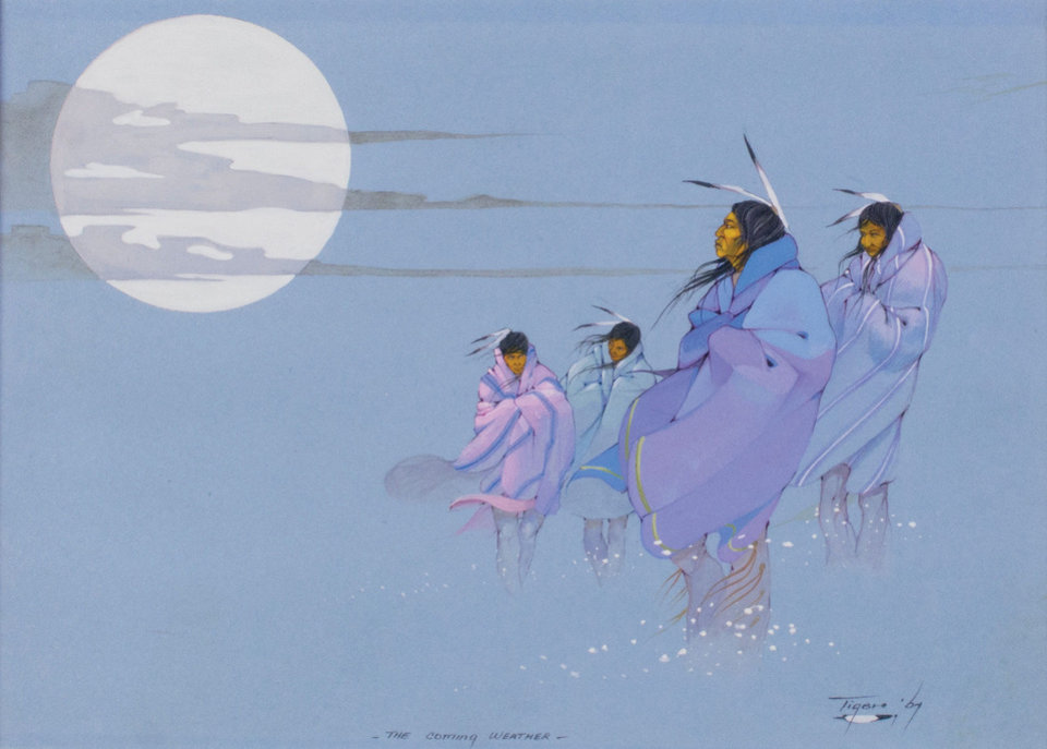 Photo - In August the museum will reveal a magnificent exhibition showcasing the works of Jerome Tiger (1941 – 1967). In only five years, Tiger produced hundreds of artworks and won numerous awards throughout the country. Today, he is recognized as one of the greatest Native American artists. Photo provided.