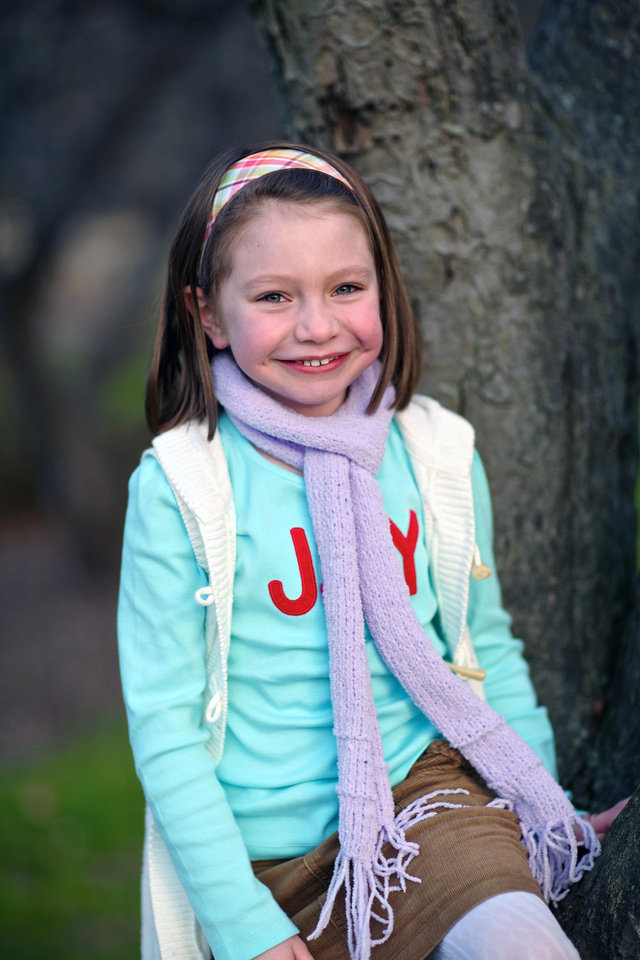 Photo - This Nov. 18, 2012 photo provided by John Engel shows Olivia Engel, 6, in Danbury, Conn. Olivia Engel. Olivia Engel, was killed Friday, Dec. 14, 2012, when a gunman opened fire at Sandy Hook Elementary School, in Newtown, Conn., killing 26 children and adults at the school. (AP Photo/Engel Family, Tim Nosezo)