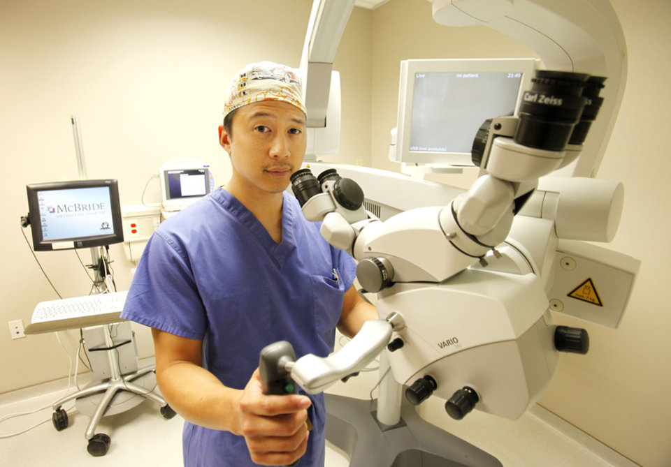Dr. Winston Fong discusses what it's like to get spinal surgery, Monday, June 25, 2012. Photo By David McDaniel/The Oklahoman