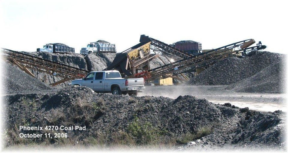 Photo -  This photo operations at the Phoenix Coal Co. shows a coal pad on a truck and shovel surface coal mining in Nowata and Craig counties. PHOTO PROVIDED    -  PHOTO PROVIDED BY THE OKLAHOMA DEPARTMENT OF MINES