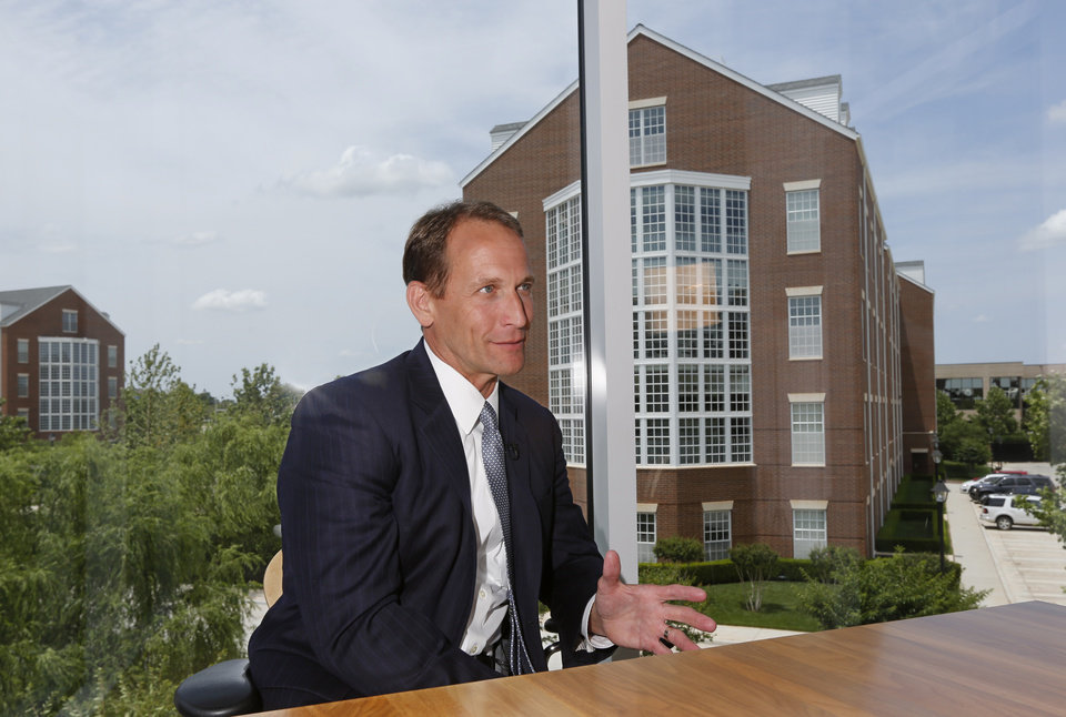 Chesapeake Energy's CEO Doug Lawler is seen on the company's campus in Oklahoma City.  Photo By Steve Gooch, The Oklahoman Archives  <strong>Steve Gooch -  The Oklahoman </strong>