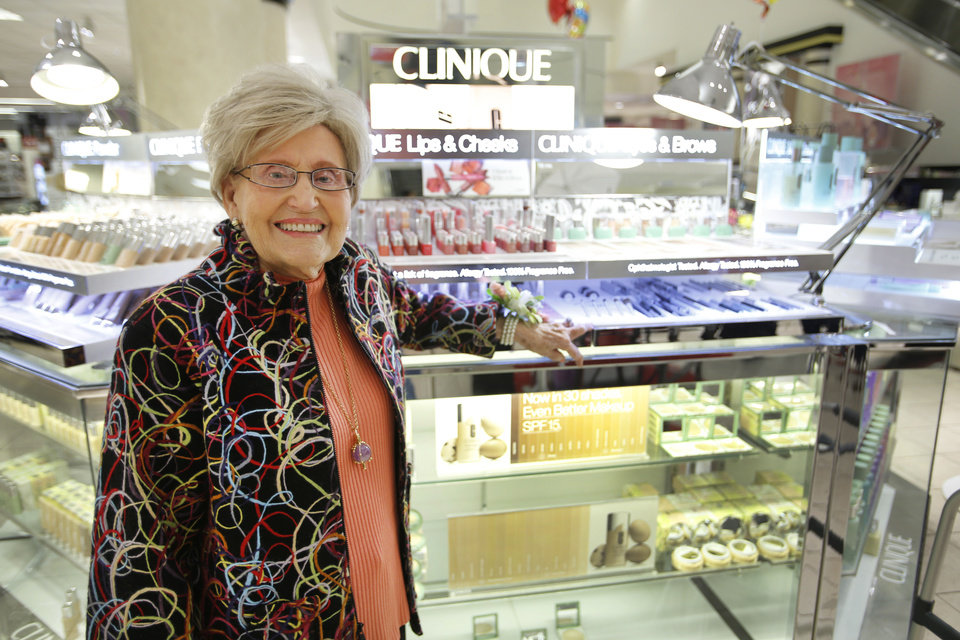 Inell Quimby retired from Macy�s in Penn Square Mall in Oklahoma City. Quimby started working at the mall in 1965. Photo by Steve Gooch, The Oklahoman