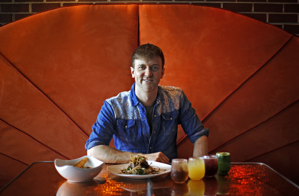 Photo - Owner Joseph Royer poses for a portrait  at the Saturn Grill's newest location is in Oklahoma City's Midtown. Photo by Bryan Terry, The Oklahoman  Bryan Terry - THE OKLAHOMAN