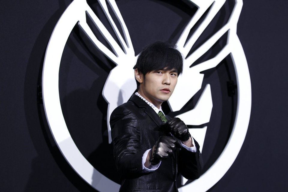 Photo - Cast member Jay Chou arrives at the premiere