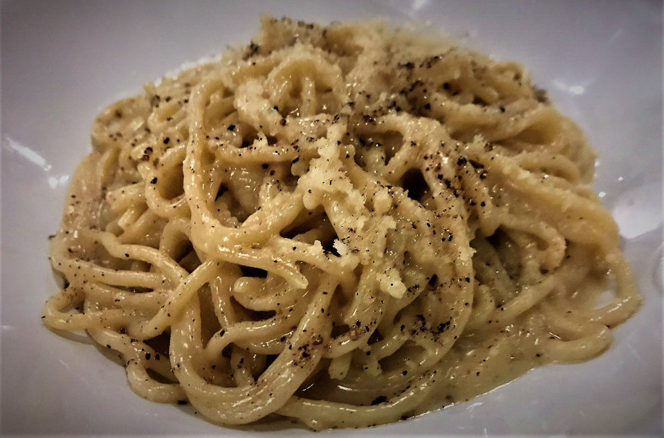 Photo -  Cacio e pepe spaghetti from Osteria Craft Cocktails and Casual Food in Nichols Hills Plaza. [Photo by Dave Cathey, The Oklahoman]