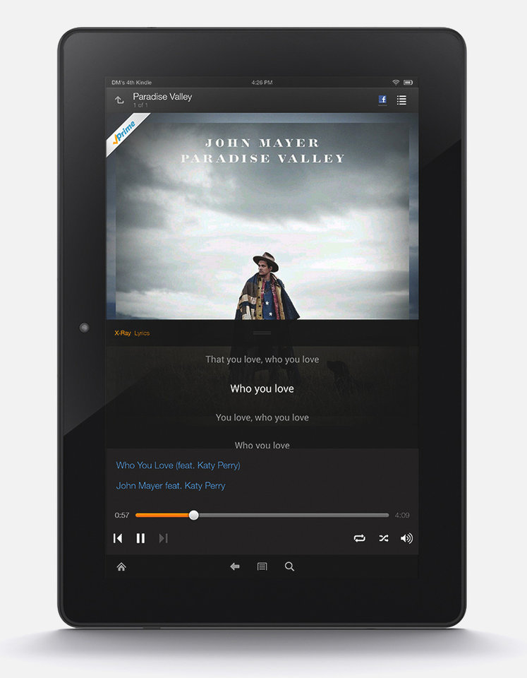 Photo - In this handout photo released by Amazon Music shows Amazon new  music streaming service for its Prime members, adding yet another freebie to the free-shipping plan ahead of the expected unveiling of its first smartphone next week. Starting Thursday, June 12, 2014, Amazon.com Inc. will offer more than a million tracks for streaming and downloading to its own Kindle Fire tablets as well as on its Amazon Music app for Apple and Android devices. People that pay $99-a-year for Prime can use the music for no extra cost. Amazon reached licensing deals with most of the top independent labels and major recording companies Sony and Warner Music, but failed to reach a deal with top-ranked Universal Music Group. (AP Photo/Amazon Music)