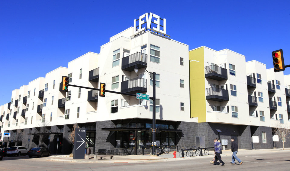 Photo - LEVEL Urban Apartments, 123 NE 2, is among the growing number of living options in downtown Oklahoma City.  PAUL B. SOUTHERLAND - THE OKLAHOMAN
