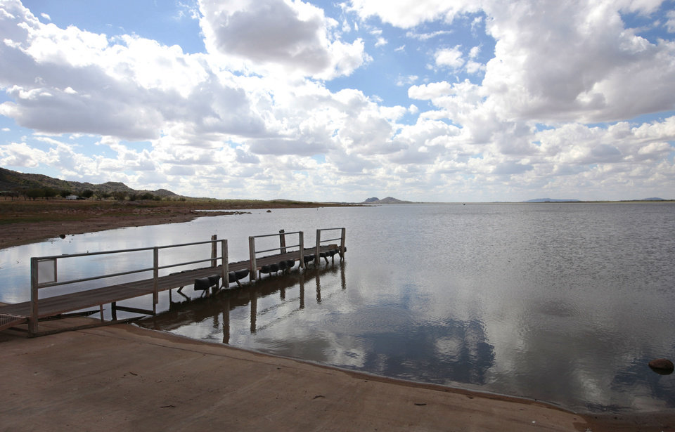 Photo - Tom Steed Lake, shown here, serves as a water source for some communities in southwestern Oklahoma. Photo by David McDaniel, The Oklahoman   David McDaniel