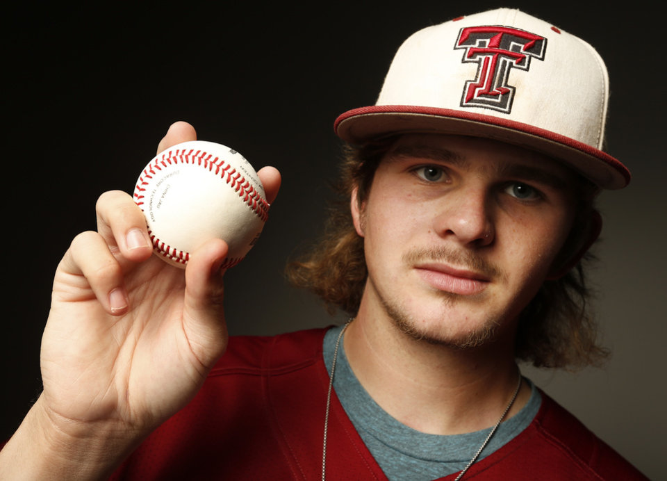 Photo - Connor Litterell, Tuttle High School baseball player, in Oklahoma City, Wednesday, June 4, 2014. Photo by Nate Billings, The Oklahoman