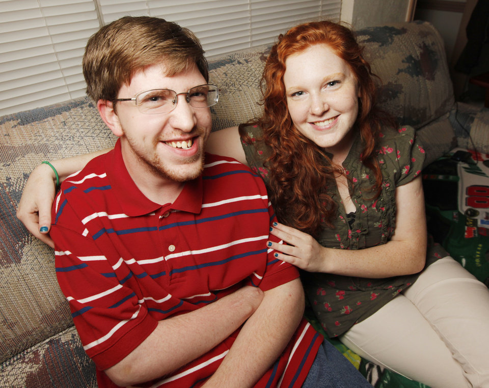 Brandon Denny and Rebecca Denny, survivors of the Oklahoma City bombing, pose for a photo at their home in Oklahoma City, Monday, May 9, 2011. Brandon and Rebecca Denny will graduate from high school later in May. Photo by Nate Billings, The Oklahoman