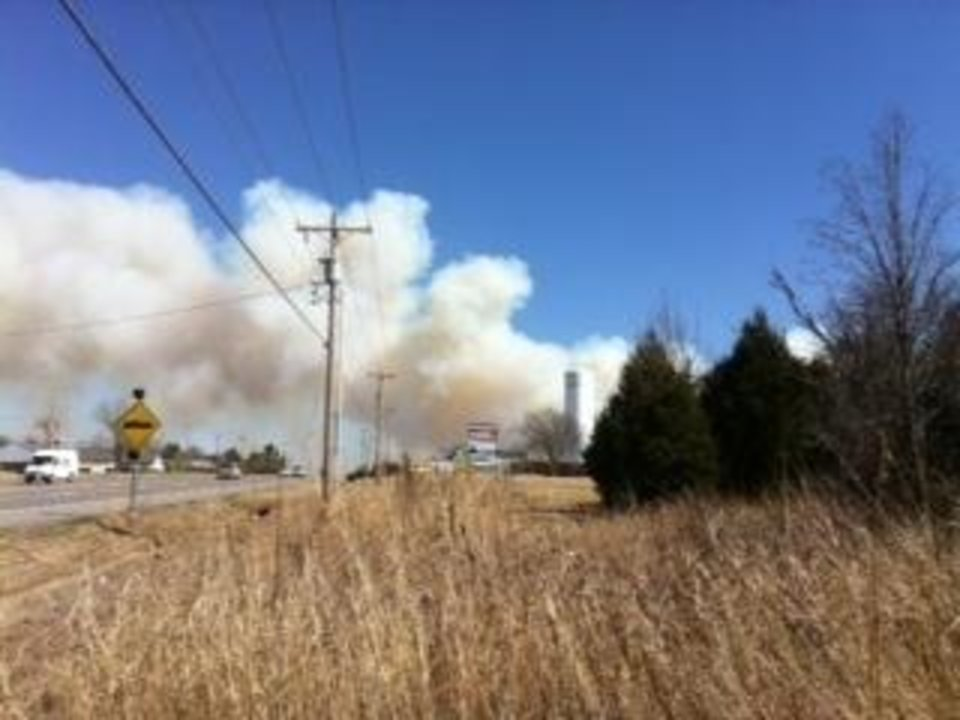 Photo - View of Harrah fire from 18000 block of 23rd