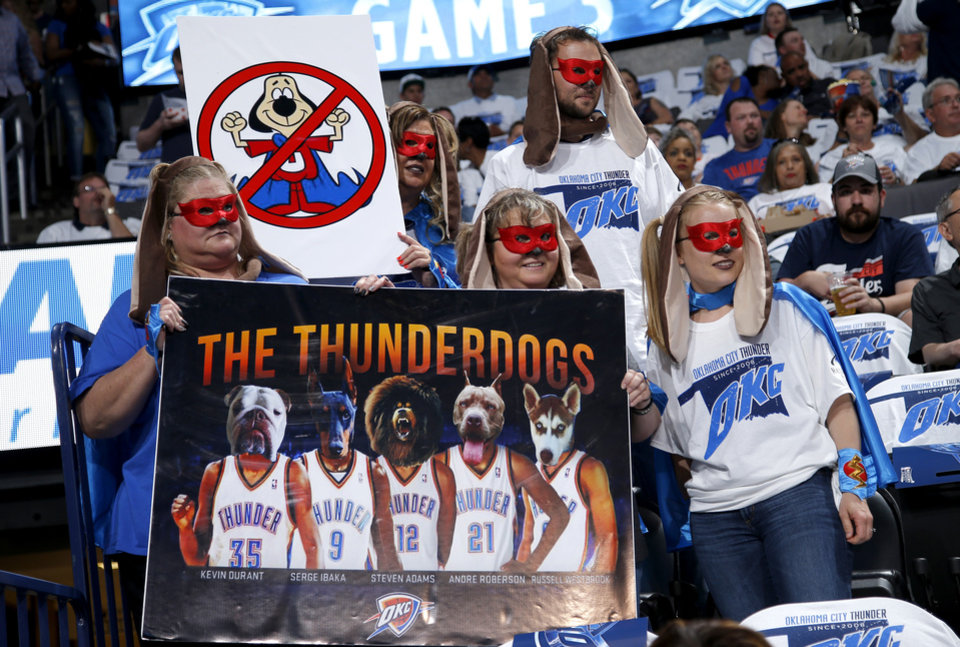 Photo -  From left, Cassie Turnbow, Cindy Crawford, Tammy Hunt, Alec Bawcum, and Amanda Copeland pose for a photo before Game 3 of the Western Conference finals in the NBA playoffs between the Oklahoma City Thunder and the Golden State Warriors at Chesapeake Energy Arena in Oklahoma City, Sunday, May 22, 2016. Oklahoma City won 133-105. Photo by Bryan Terry, The Oklahoman