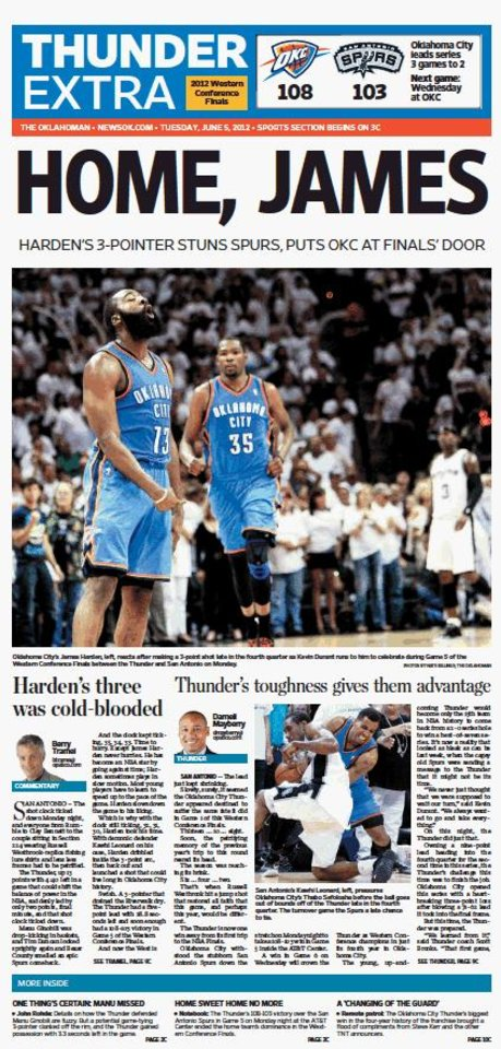 Game 5: Thunder-Spurs, June 4, 2012