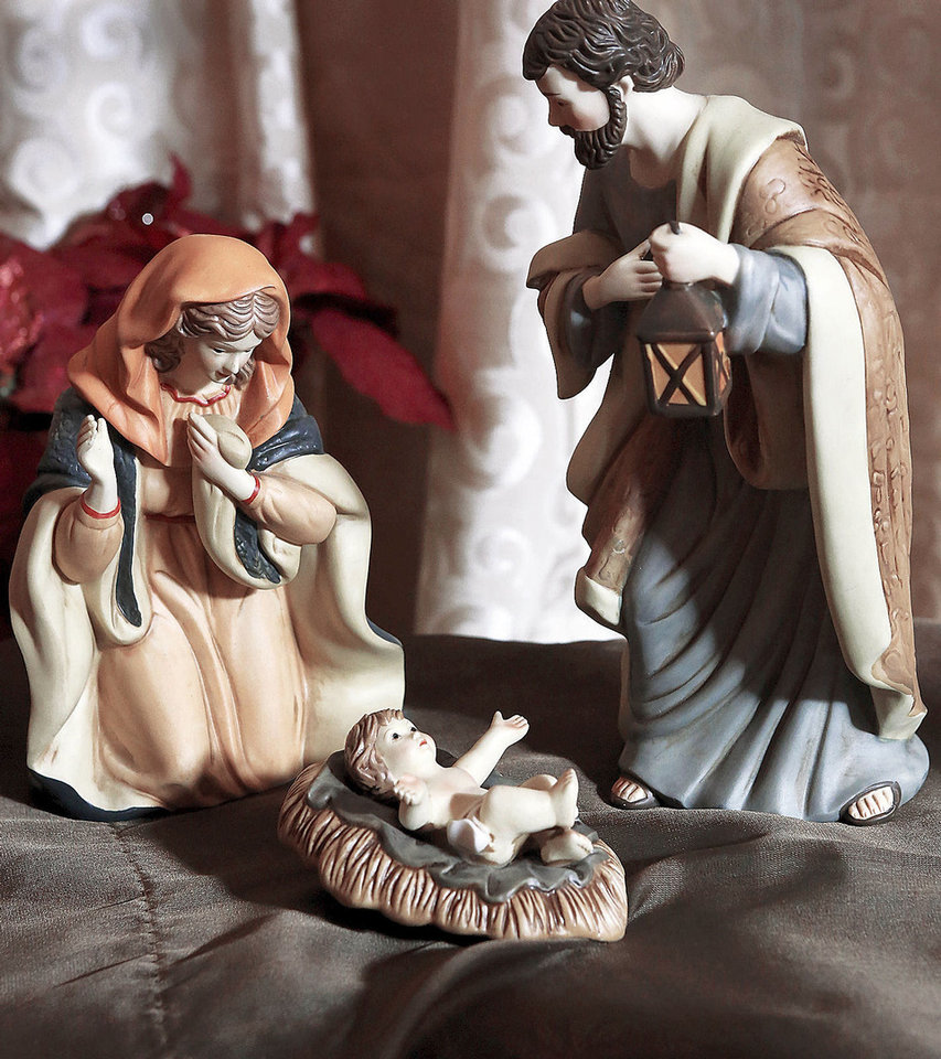 Photo - Close to 800 depictions of the nativity scene, in a wide variety of media and sizes, featuring a number from around the world, are displayed throughout  the  Church of Jesus Christ of Latter-day Saints, 5020 NW 63,  through Sunday, Dec. 16, 2012.  The display is called