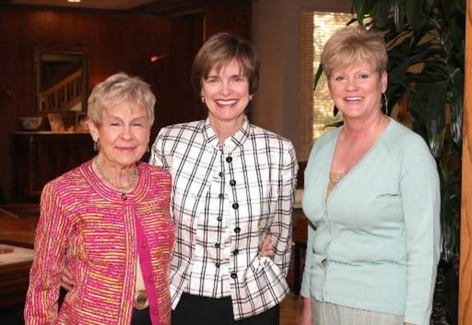Ann Flesher, Polly Nichols, Barbara Simons. PHOTO BY DAVID FAYTINGER, FOR THE OKLAHOMAN