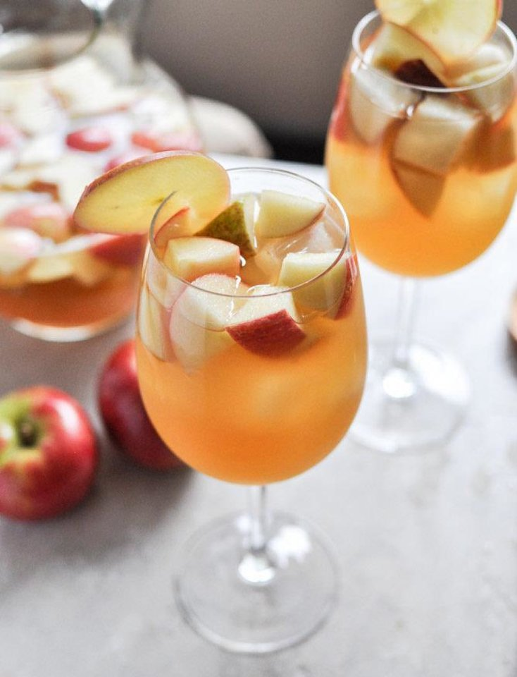 Photo - Get into the spirit of the holiday with this Apple Cider Sangria. From www.howsweeteats.com.