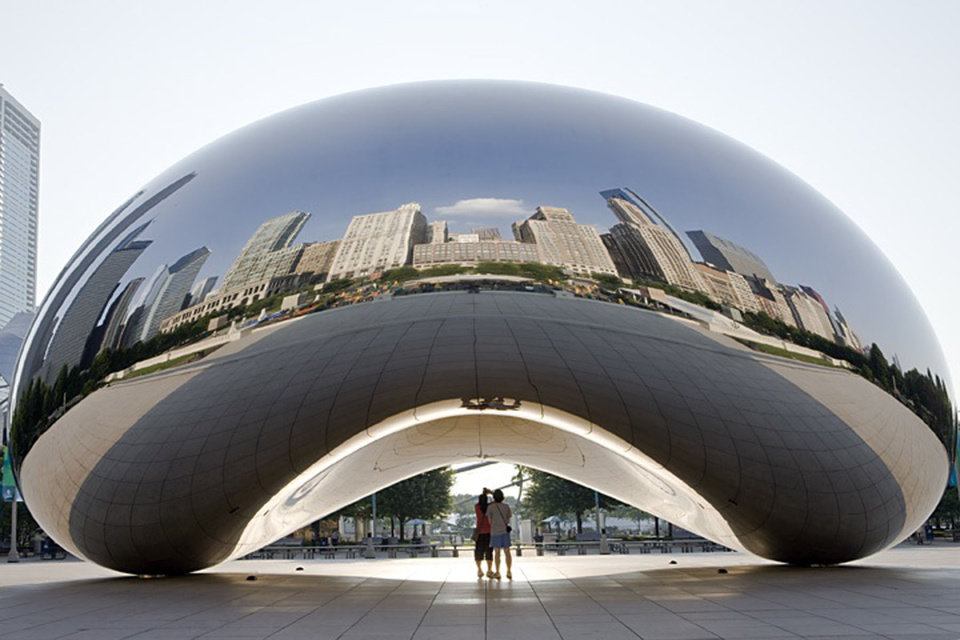 Photo -  Cloud Gate in Chicago's Millennium Park reflects the city and the people who visit. Photo courtesy of Choose Chicago.