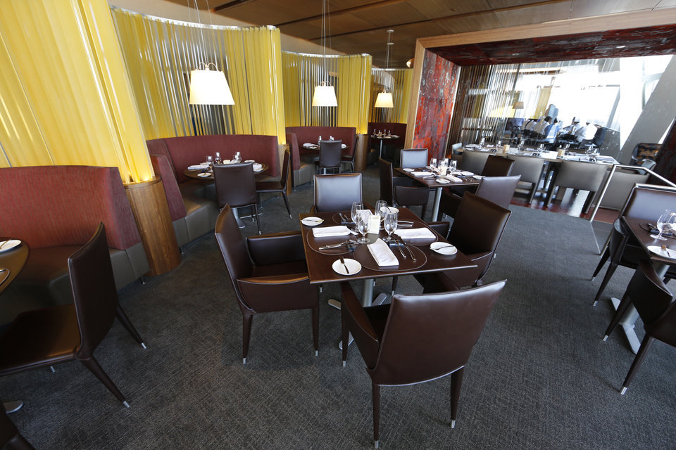 Photo - The VAST restaurant in the Devon Tower in Oklahoma City, Wednesday October 17, 2012. Photo By Steve Gooch, The Oklahoman
