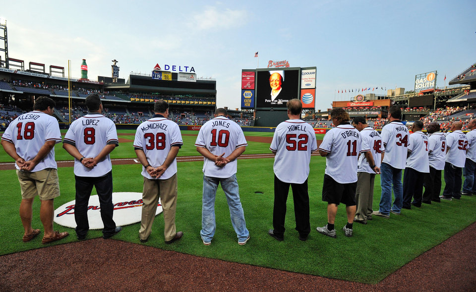 Photo - Former Atlanta Braves players on hand for the team's