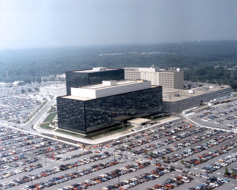 Photo - This undated US government photo shows an aerial view of the National Security Agency (NSA) in Fort Meade, Md. The Obama administration on Thursday defended the National Security Agency's need to collect telephone records of U.S. citizens, calling such information