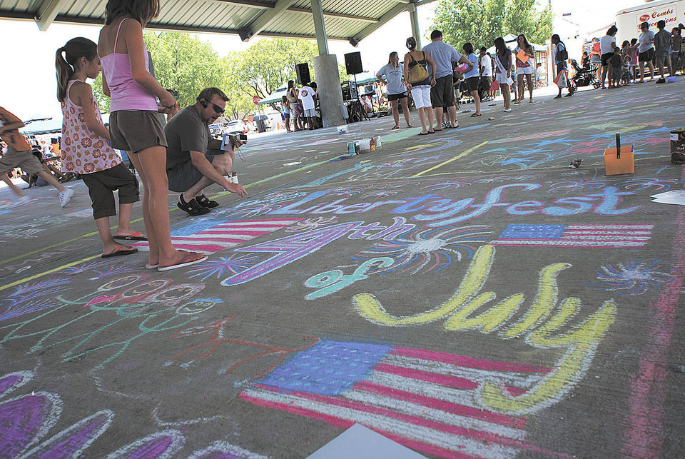 Photo - Chalk it up during Edmond?s LibertyFest. PHOTO PROVIDED.