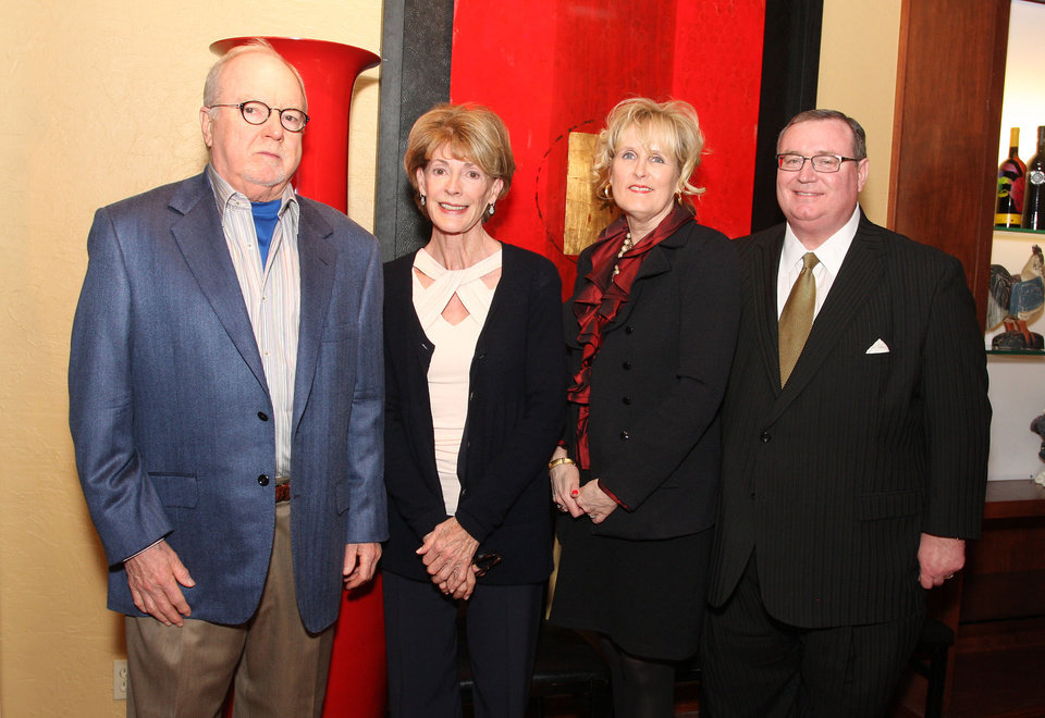 Bill Hawley, Marilyn Balyeat, Melinda Johnson, Glen Johnson. Photo by David Faytinger for The Oklahoman__
