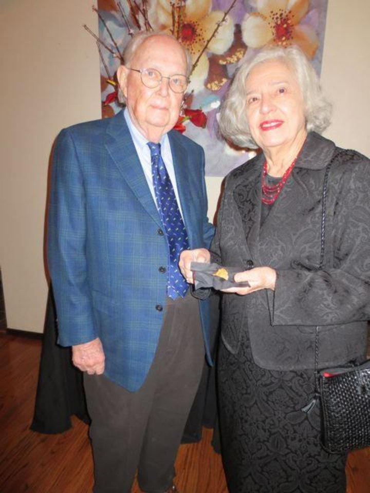 Dick and Jeannette Sias were among the honorees at a special five- course dinner hosted by staff members of KCSC 90.1 FM Classical Radio Station. Their contributions to the station prompted the dinner.  The honorees included Margaret Freede Owens, Jose Freede, Kurt Fleischfresser, Jeannette and Dick Sias and Teresa and Charles  Brekke. (Photo by Helen Ford Wallace).