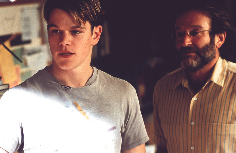 "Photo - Matt Damon, left, and Robin Williams star in ""Good Will Hunting."""