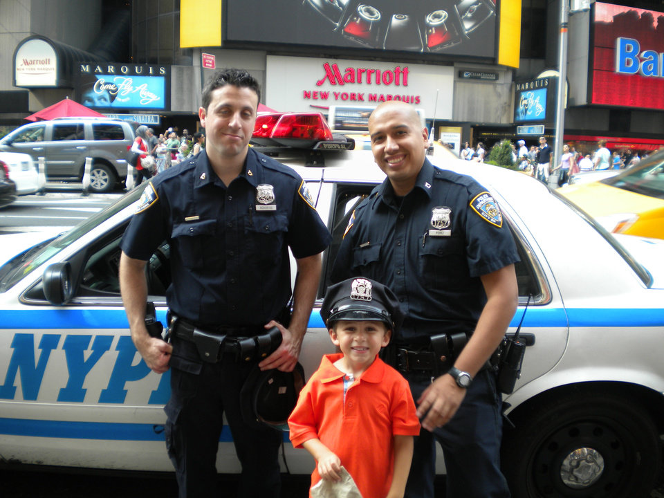 Chatting it up with NYC's finest