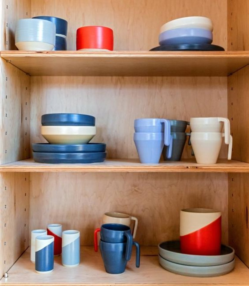 Photo -  Locally made ceramicware items are among the products in stock at The Market at Commonplace located at 1325 N. Walker Ave.  [CHRIS LANDSBERGER/THE OKLAHOMAN]