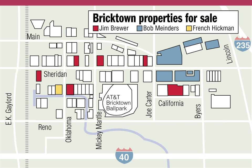 Photo - Bricktown properties for sale MAP - GRAPHIC (Jim Brewer - Bob Meinders - French Hickman