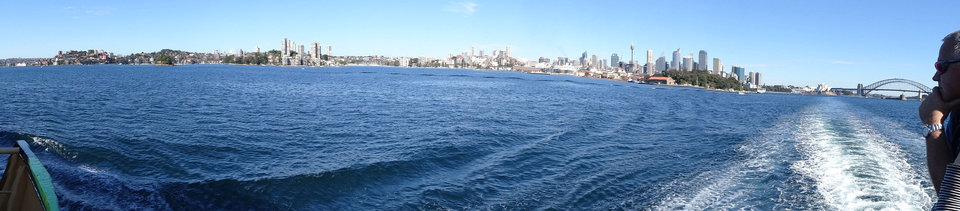 Photo - A panoramic view of Sydney from a ferry headed for Manly Bay. PHOTO BY DAMON FONTENOT, THE OKLAHOMAN
