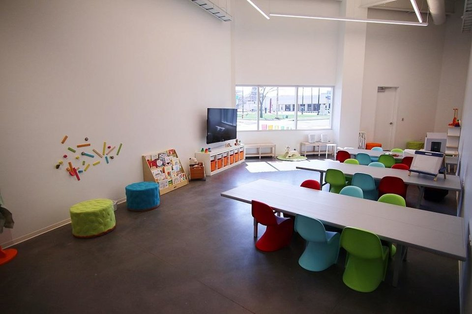 Photo - The Sonic Drive-In Early Childhood Studio inside the new Oklahoma Contemporary Arts Center is set up for visitors ages 4 and younger, Monday, March 9, 2020. The center is planning weekly Zero2Four Art Labs for its youngest visitors and their caretakers every Friday. [Photo by Doug Hoke/The Oklahoman]
