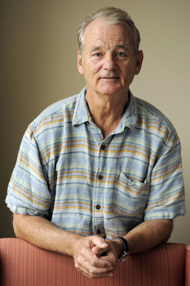 """FILE - In this Sept. 9, 2012 file photo, Bill Murray, a cast member in the film """"Hyde Park on Hudson,""""  poses for a portrait at the 2012 Toronto Film Festival, in Toronto. (Photo by Chris Pizzello/Invision/AP, File)"""