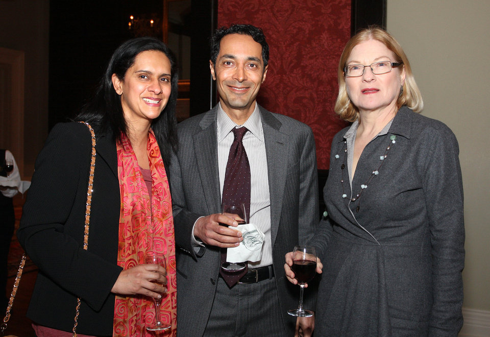 Sumeeta and Sumit Nanda, Liz Eickman. PHOTO BY DAVID FAYTINGER, FOR THE OKLAHOMAN <strong></strong>
