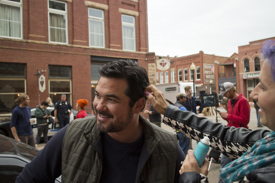 Photo -  Actor Dean Cain is seen in 2015 on the Guthrie set of