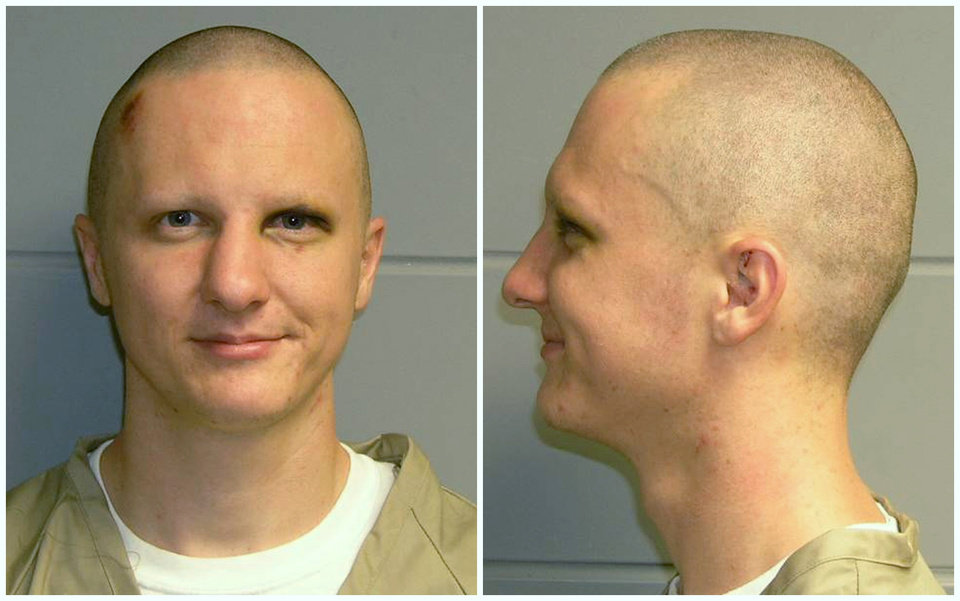 Photo - FILE - This is a combo of photos of Jared Loughner released Tuesday, Feb. 22, 2011, by the U.S. Marshal's Service. Loughner pleaded guilty in the Tucson, Ariz., shooting rampage that killed six people and left several others wounded, including then-U.S. Rep. Gabrielle Giffords. Hundreds of pages of police reports in the investigation of the shooting were released Wednesday, March 27, 2013 marking the public's first glimpse into documents that authorities have kept private since the attack on Jan. 8, 2011. (AP Photo/U.S. Marshal's Office, File)(AP Photo/U.S. Marshal's Office)