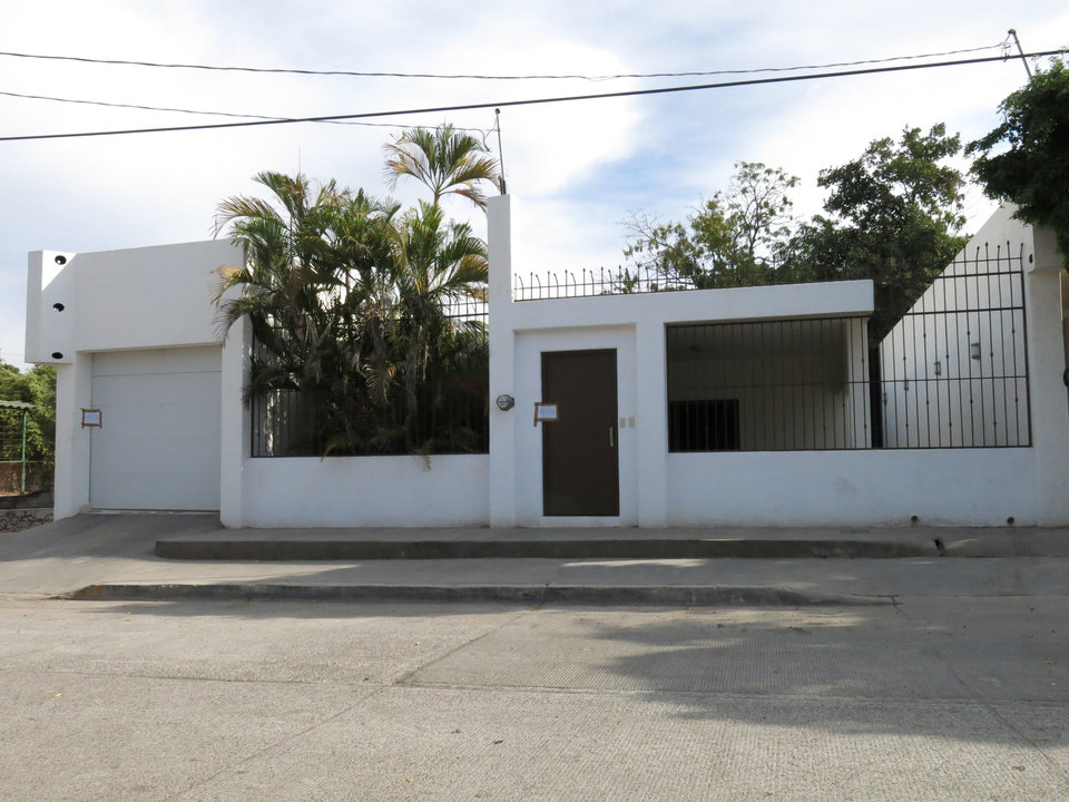 Photo - One of the properties that was interconnected by tunnels in the city's drainage system that infamous drug boss Joaquin Guzman Loera,