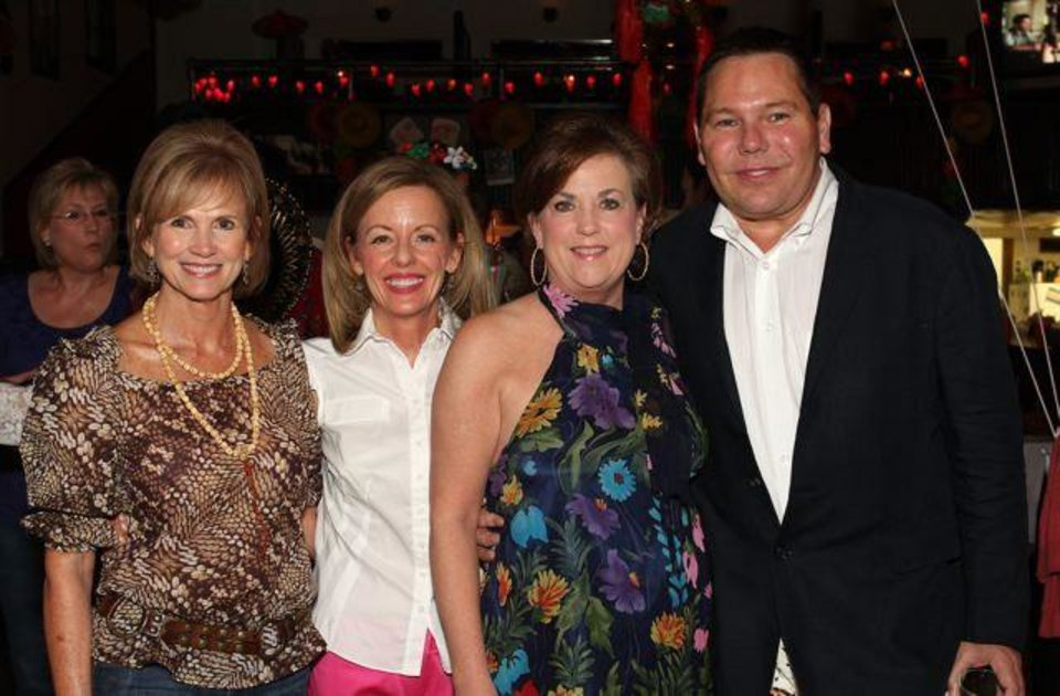 "CABO SCENE ON WESTERN.....Sherry Cash, Penny McCaleb, Rhonda Hefton and Kent Potter were at the VZD Restaurant for the ""Cabo Wabo on Western Party"" given for Katharine Samis and Kent Regens. They were in the host group. (Photo by David Faytinger.)"