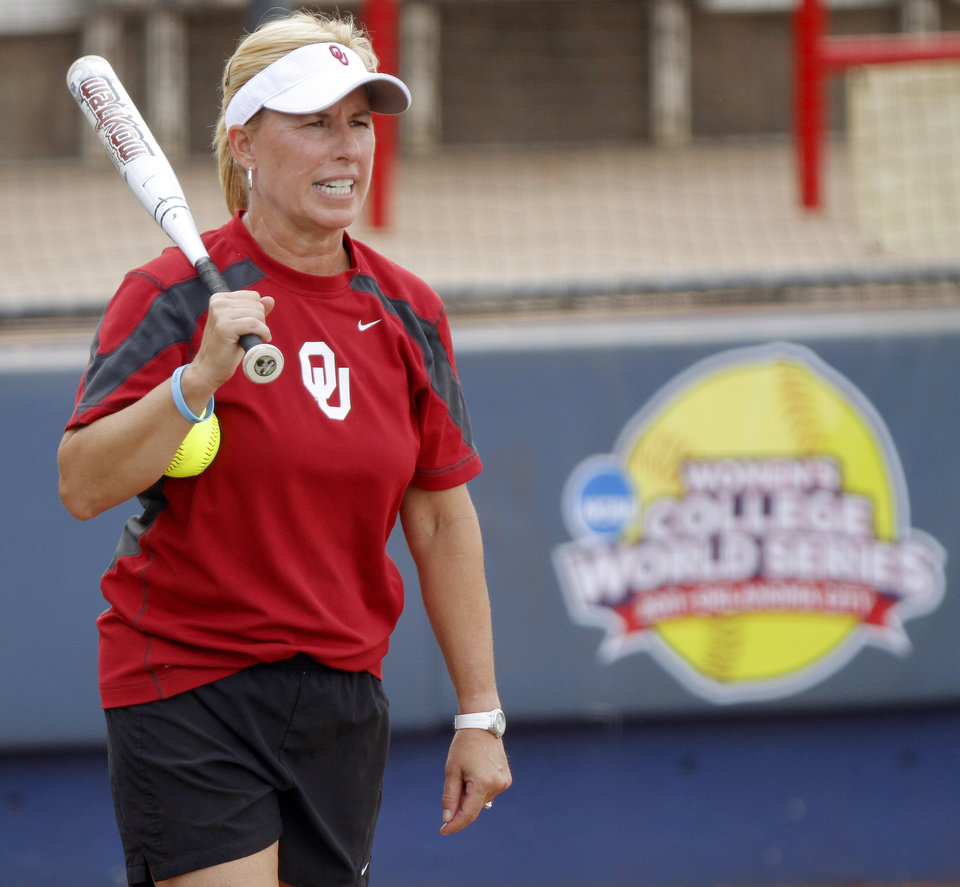 UNIVERSITY OF OKLAHOMA / COLLEGE SOFTBALL:  OU head coach Patty Gasso on Wednesday, June 1, 2011, prior to the first day of the Women's College World Series at ASA Hall of Fame Stadium in Oklahoma City. Photo by Bryan Terry, The Oklahoman