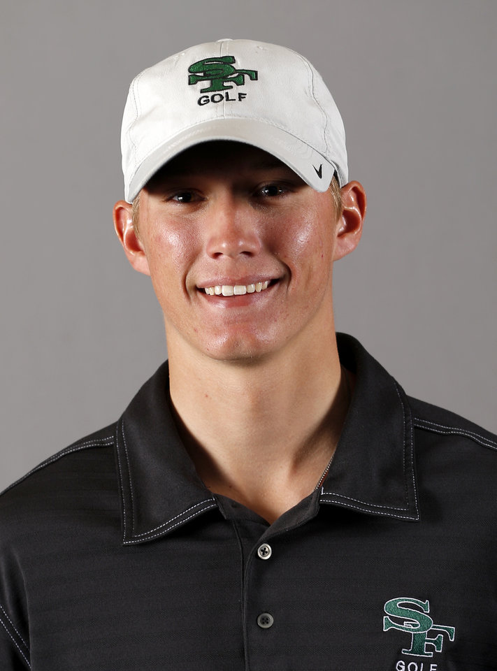 Photo - Max McGreevy with the Edmond Santa Fe boys golf team poses for a mug during the spring high school sports photo day in Oklahoma City, Wed. Feb. 27, 2013. Photo by Bryan Terry, The Oklahoman