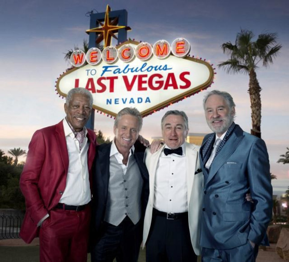 "From left, Morgan Freeman, Michael Douglas, Robert De Niro and Kevin Kline in ""Last Vegas."" CBS FILMS PHOTO <strong></strong>"