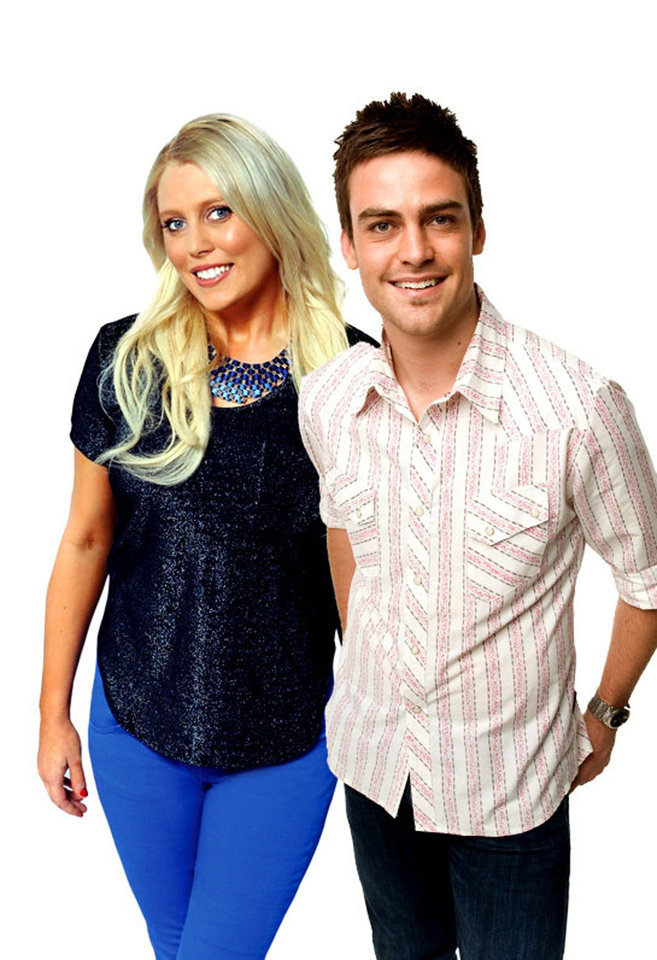 Photo - In this undated supplied publicity photo 2 Day FM radio presenters Mel Greig, left, and Michael Christian pose. Greig and Christian during their radio program Tuesday, Dec. 4, 2012, impersonated Britain's Queen Elizabeth II and the Prince of Wales to dupe hospital staff into giving information on the condition of the former Kate Middleton who was suffering severe morning sickness. (AP Photo/AAP Image, Southern Cross Austereo Sydney) Australia Out, Editorial Use Only, No Archiving
