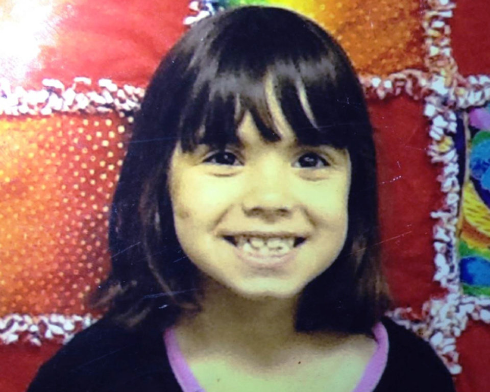 Photo - This undated photo provided by the Kitsap County Sheriff's Office shows Jenise Paulette Wright. Kitsap County sheriff's deputies are searching for Jenise, 6, who is missing and was last seen Saturday night, Aug. 2, 2014, at her home in east Bremerton, Wash. Jenise is 3 feet tall, weighs 45 pounds and has black hair. She'll be a first-grader this coming school year. (AP Photo/Kitsap County Sheriff's Office)