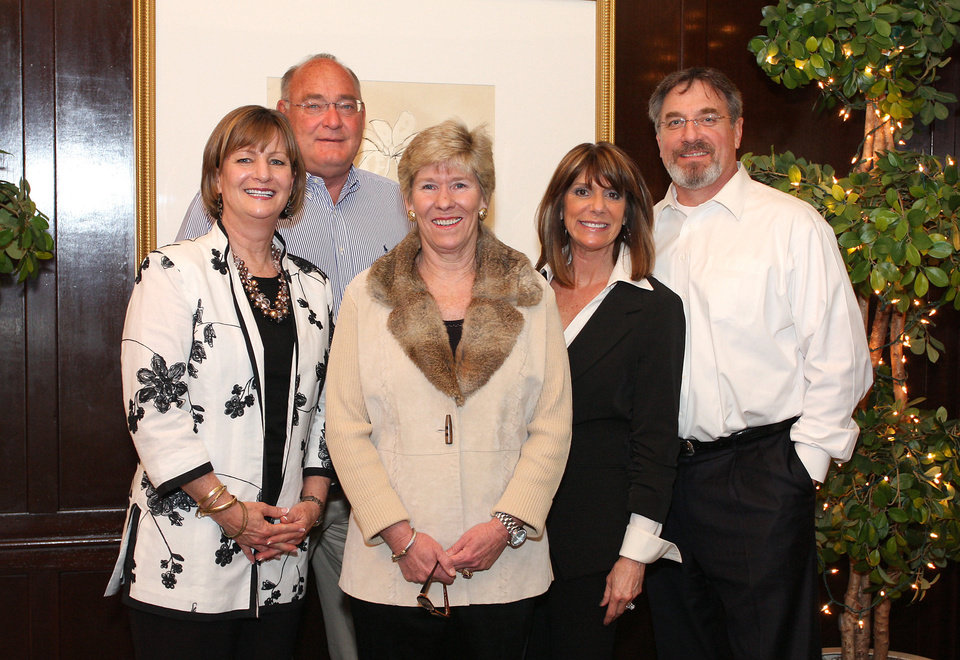 Photo - Right: Mary and Frank Sims, Chris Ernst, Robin and Chris Wray.  PHOTO BY DAVID FAYTINGER,  FOR THE OKLAHOMAN